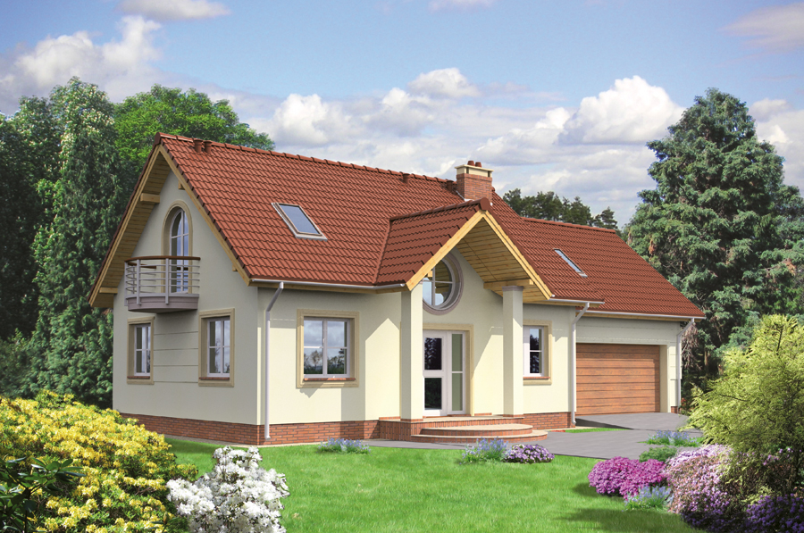 Проект одноэтажного дома с мансардой - муратор ц118ц vm1907.