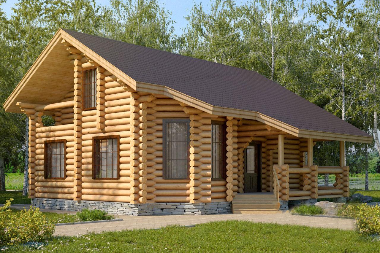 Фото проектов домов из оцилиндрованного бревна