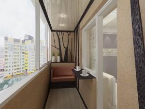 Глянцевые натяжные потолки на балкон