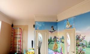 Матовые натяжные потолки в детскую