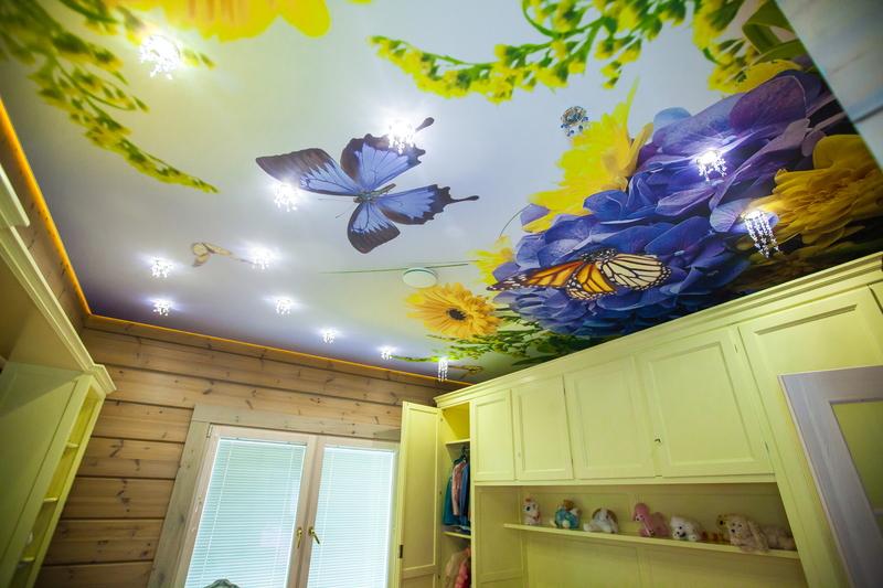 Потолок с фотопечатью фото