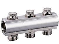 Коллектор SL с настроечными запорными клапанами, латунь