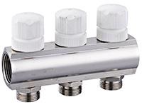 Коллектор SP с ручными запорными клапанами, латунь