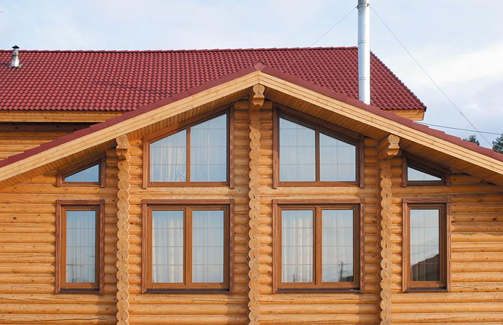 Пластиковые окна для деревянных коттеджей