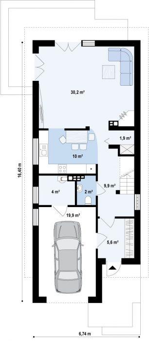 Проект загородного дома Z293