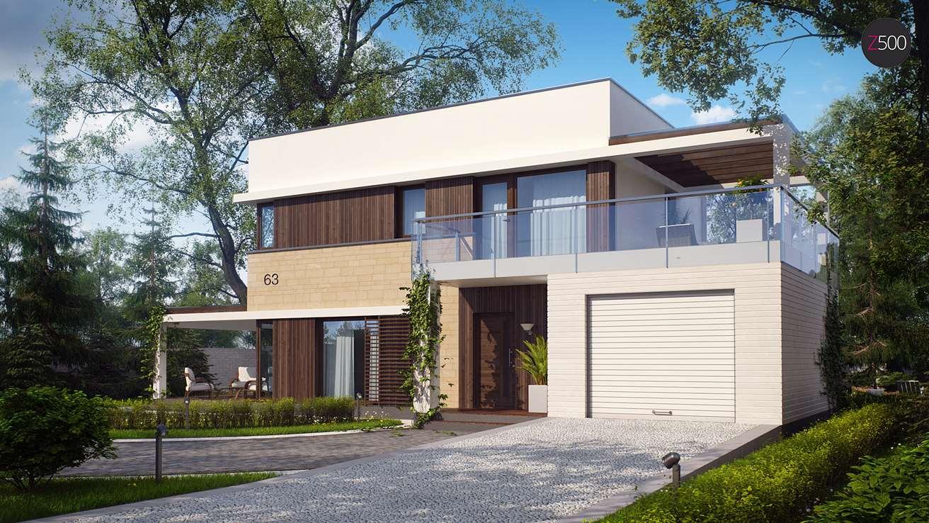 Проект загородного дома ZX63