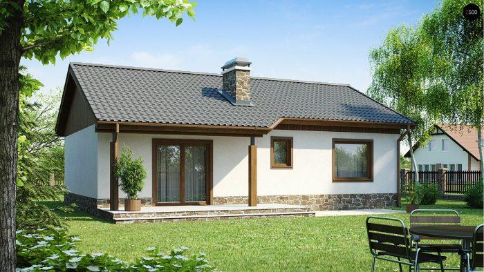 Проект загородного дома Z72