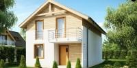 Проект загородного дома Z38