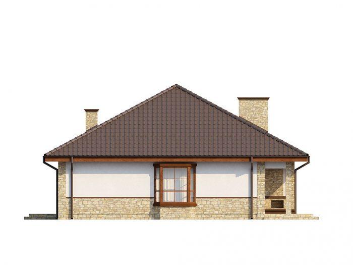 Z10 Одноэтажный дом с многоскатной кровлей