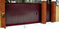 Как поставить ворота зимой