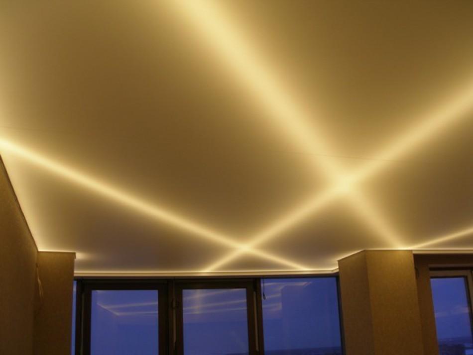 Как сделать подсветку натяжных потолков