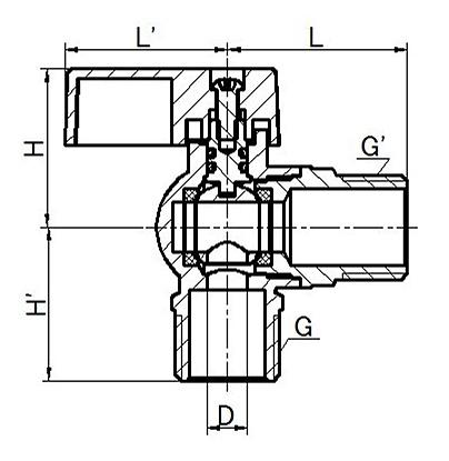 Кран угловой для подключения бытовых приборов (хром), ANGLE VALVE(S)