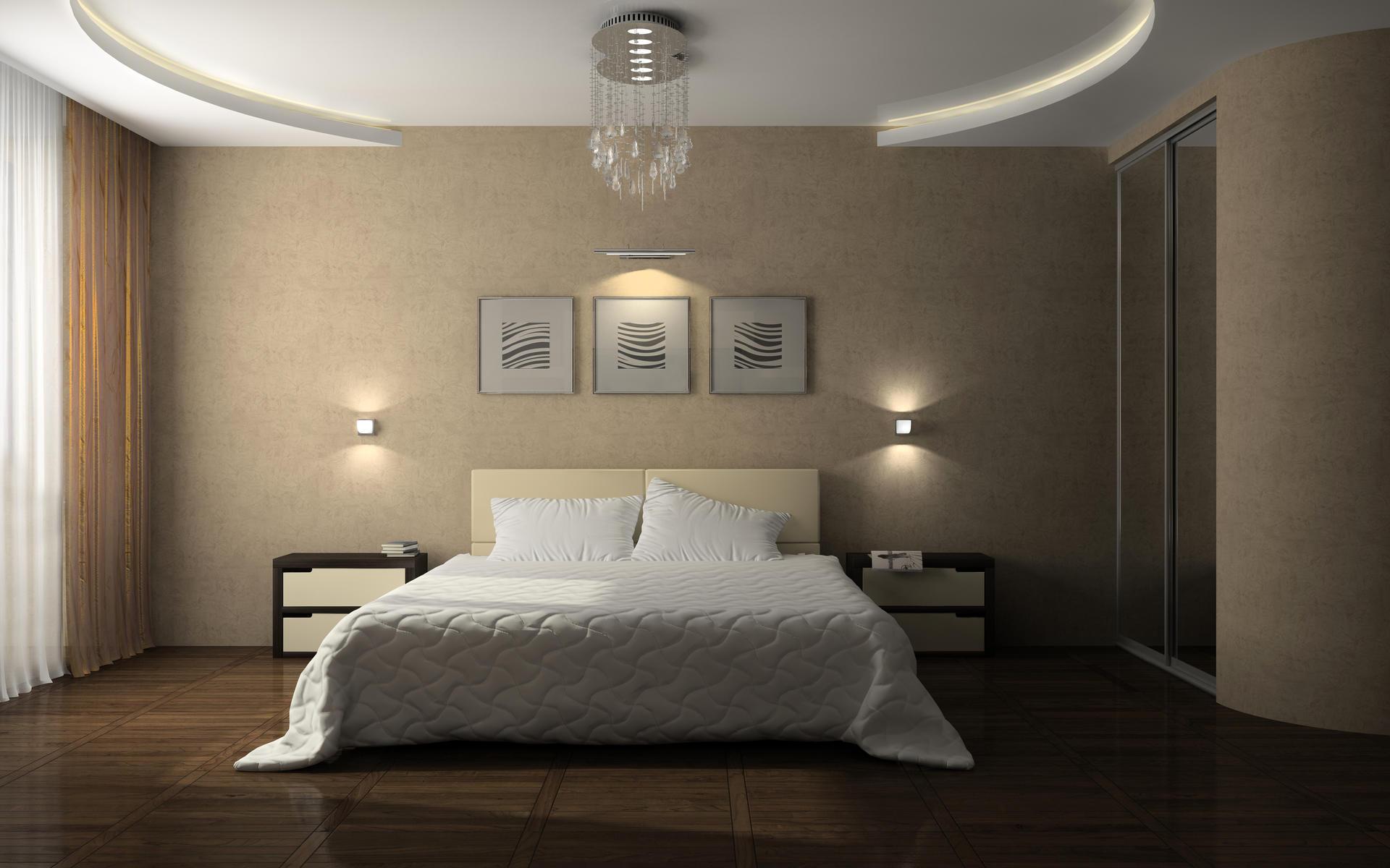 Красивые натяжные потолки для спальни