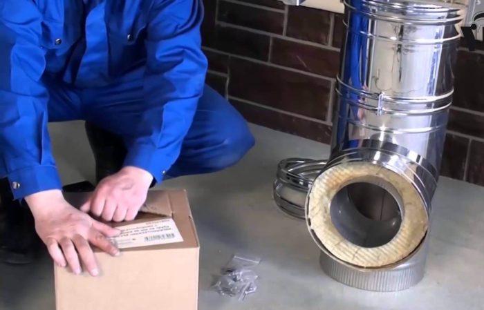 Монтаж дымоотводящих труб