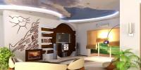 Выбор цвета натяжного потолка в нежилые помещения