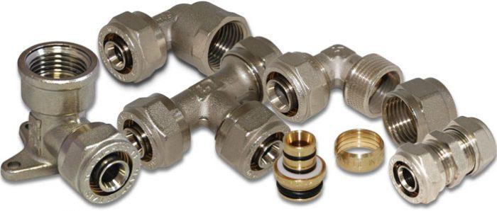 Обжимные и пресс-фитинги для металлопластиковых труб