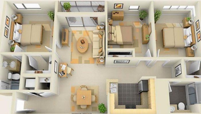Планировка комнат частного загородного дома