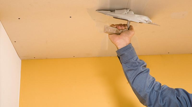 Потолок (штукатурка, шпатлевка, покраска)