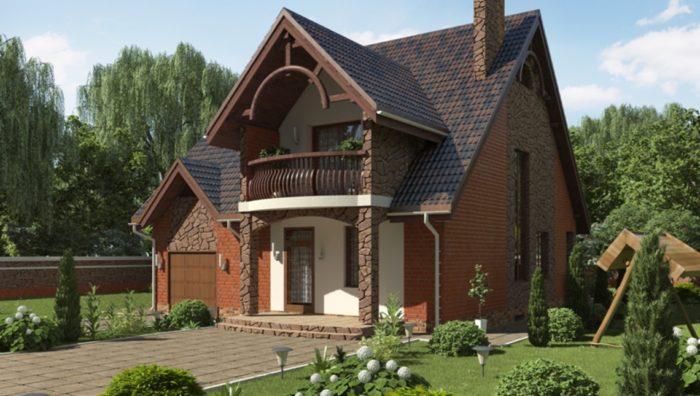 Проекты коттеджей и домов от Dom4M