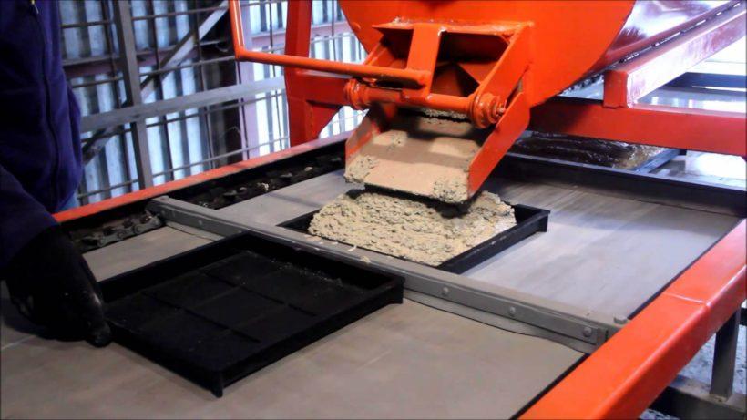 Производство тротуарной плитки методом вибролитья