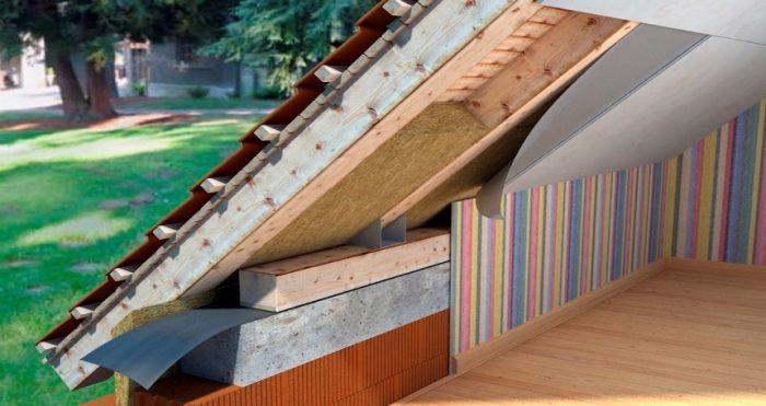 Утепление мансардной крыши дома