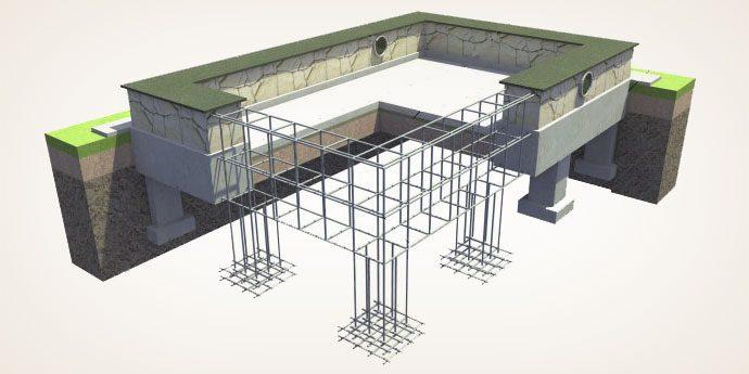 Заливка фундамента под частные дома и коттеджи