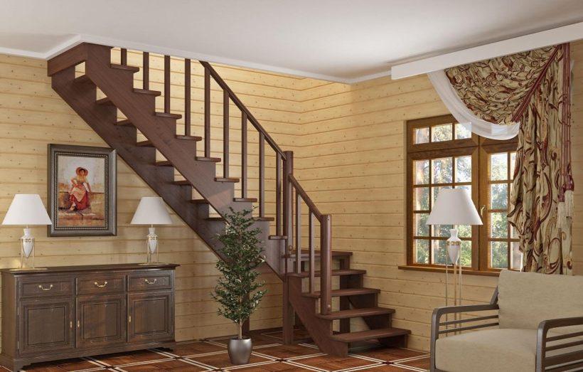 Выбираем деревянную лестницу для дачи