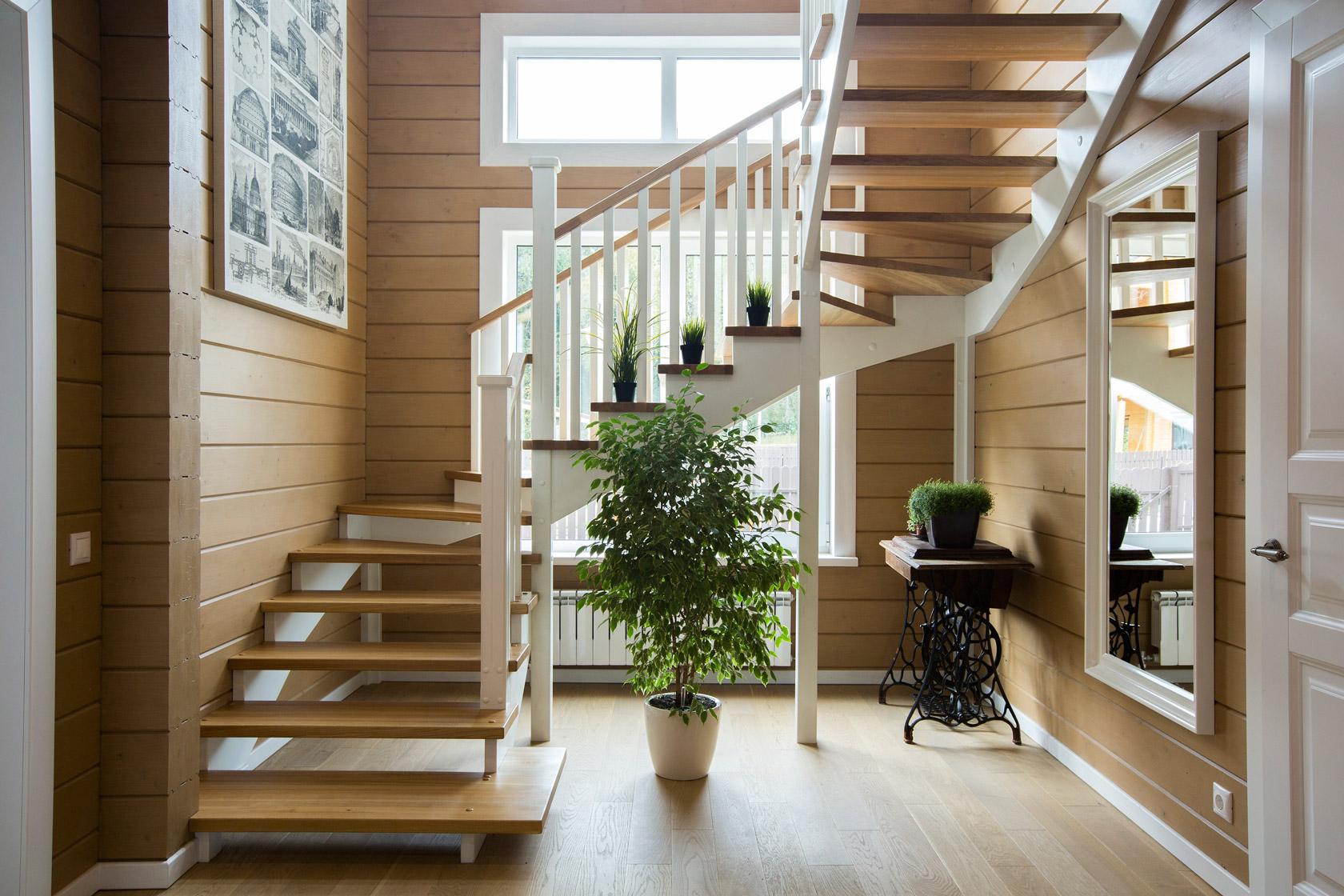 деревянные лестницы всегда в тренде