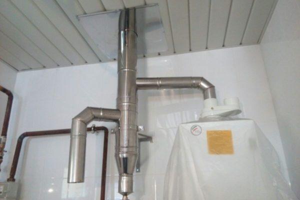 дымоход для газовых котлов