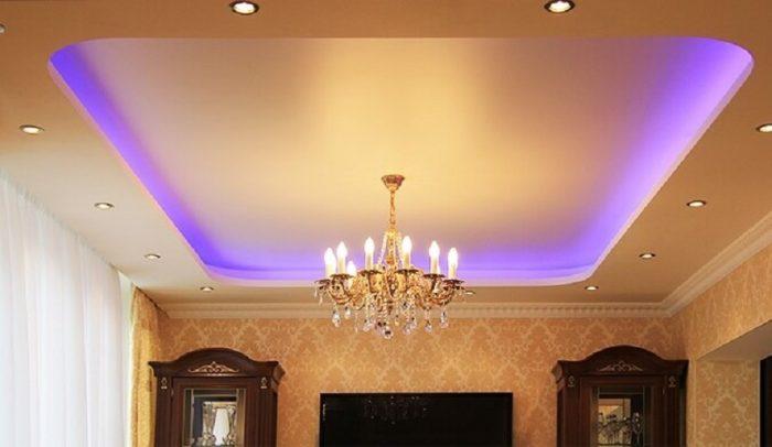 подсветки на натяжные потолки