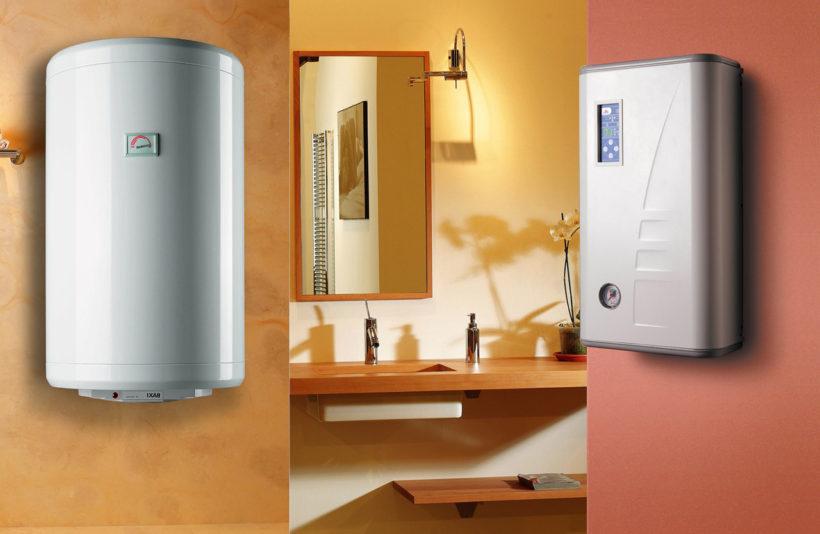 установить электрический водонагреватель