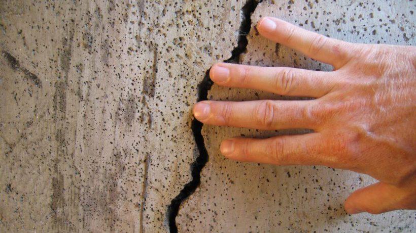заделать трещины в бетоне