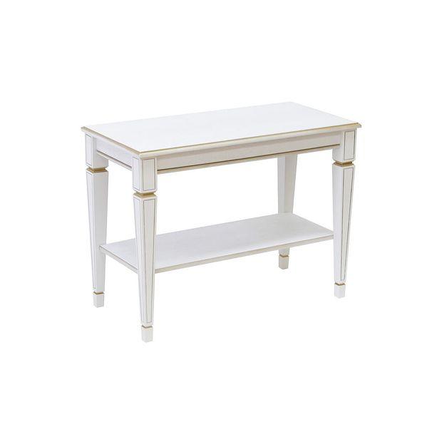 Придиванный столик B 84H Белый ясень Золото