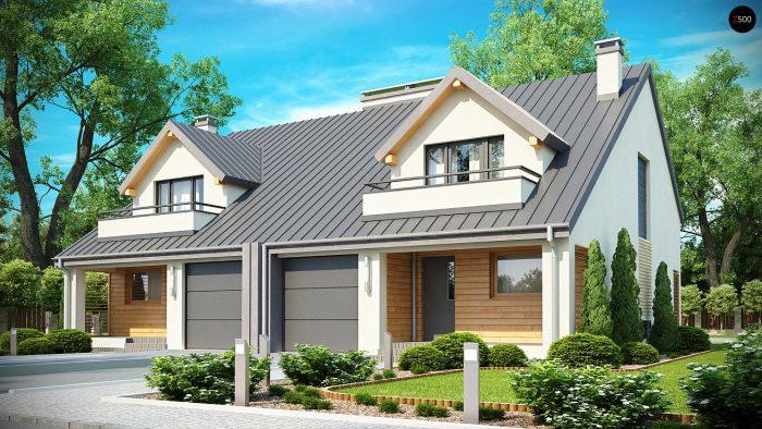 Проект загородного дома Zb4